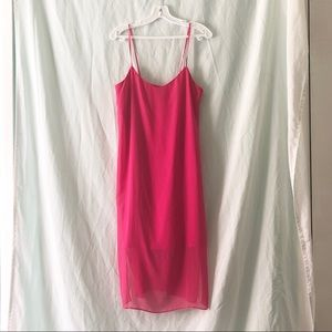 Hot Pink Layered Dress from ASOS / 6